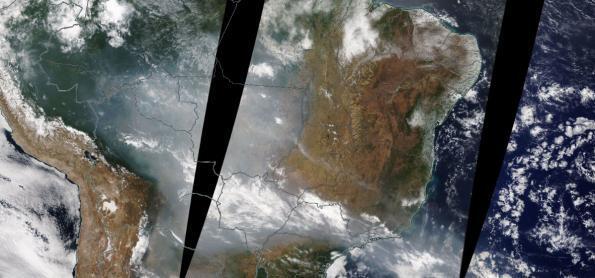 Fumaça se espalha sobre o Grande Rio neste fim de semana