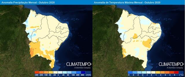 nordeste_precipitacao_anomalia_Tmax_mensal_2020-10-01