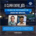 Clima de novembro de 2020 no Brasil