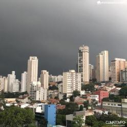 As nuvens do temporal que caiu sobre São Paulo