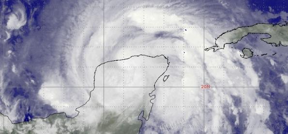 Zeta atinge México como furacão