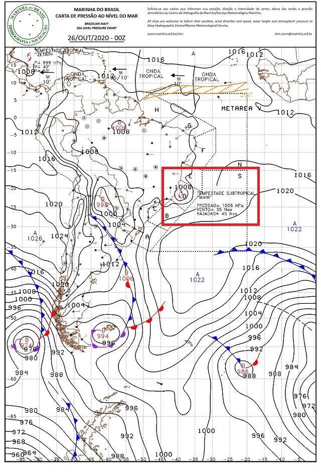 Tempestade subtropical Mani se formou na costa do Sudeste - Categoria -  Notícias Climatempo