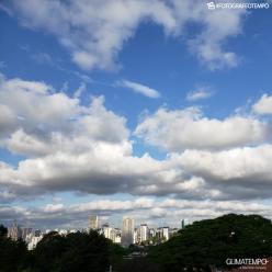 Calor e pancadas de chuva em São Paulo