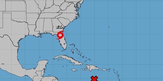 Tempestade tropical ETA provoca chuvas fortes na Flórida