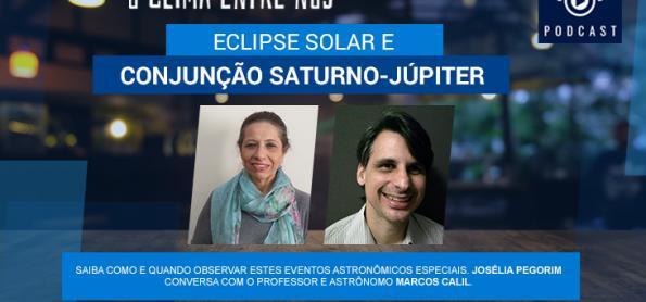 Eclipse solar e conjunção Júpiter-Saturno