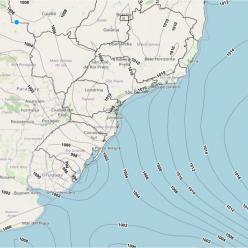 Ciclone provoca ventania na Região Sul