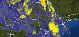 Alerta para chuva muito volumosa sobre o Vale do Ribeira