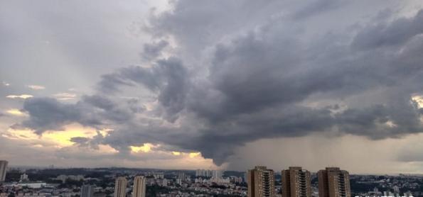 Domingo abafado e com chuva no Brasil