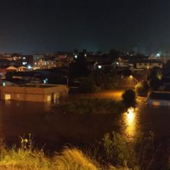 Forte chuva atinge Lagoa Vermelha no Rio Grande do Sul