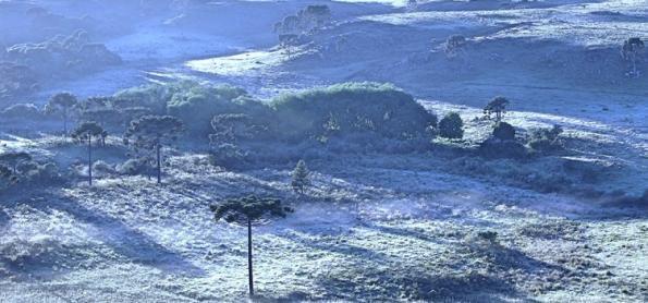 Frio e risco de geada no Sul