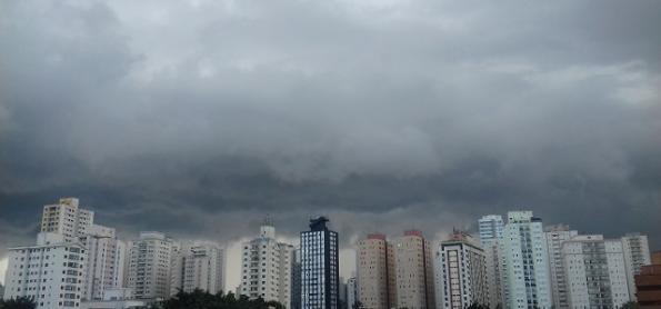 Chuva forte e risco de ventania no sul e leste de SP