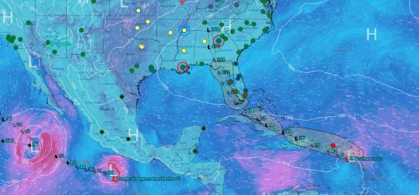 Possível tempestade tropical se forma nesta quarta no Caribe
