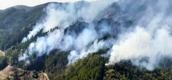 Frente fria ajuda no controle das queimadas no centro-sul do BR