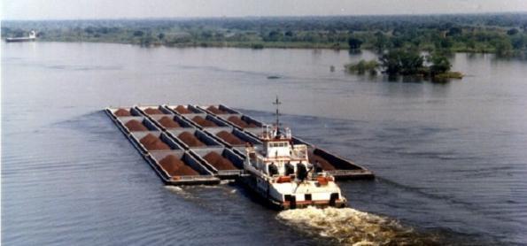 Seca sobre a bacia do rio PR interrompe rota de grãos