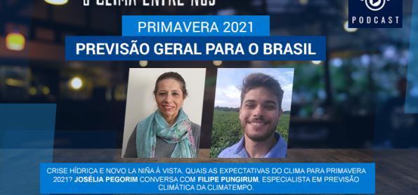 Primavera 2021: previsão geral para o Brasil