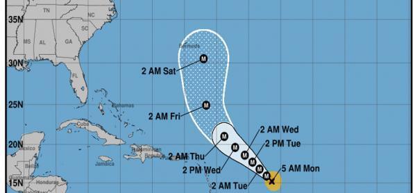 Furacão Sam provoca ventos fortes no Oceano Atlântico