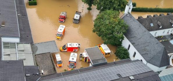 Mudança climática tornou chuva extrema mais provável na Europa