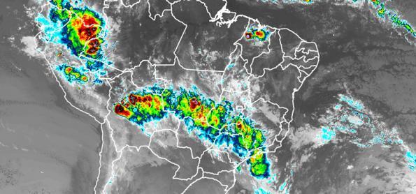 Sábado com muita chuva no Sudeste e no Centro-Oeste