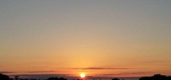 Nascer do sol em Cruz Alta-RS