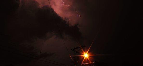 Tempestade e raios na região de São Carlos, 18/01/2018