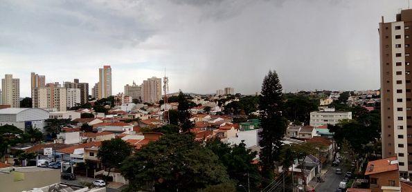 Mais uma foto da chuva que já cai em Santo André - SP