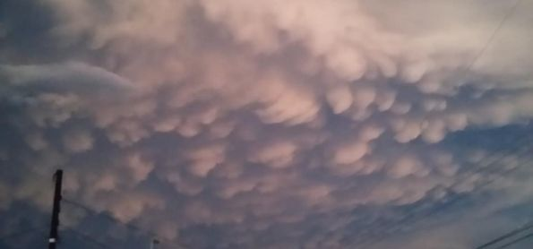 Show de nuvens (Mammatus)  em Cruz Alta !!!