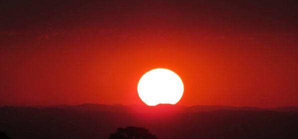 Sol de 23 de setembro em São Thomé das Letras