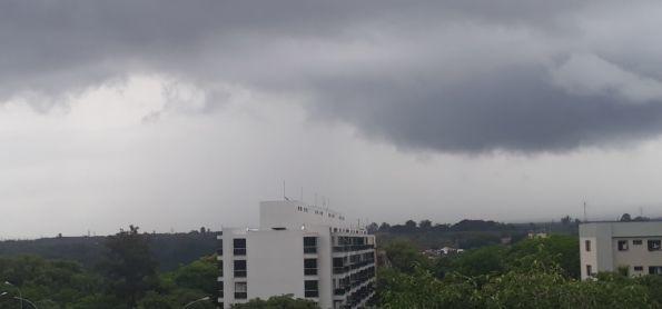 Chuva forte na Capital
