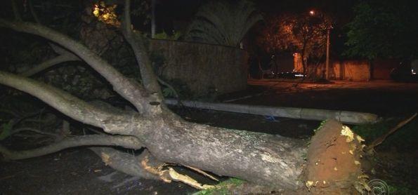 Temporal causa estragos aqui em Sorocaba-São Paulo