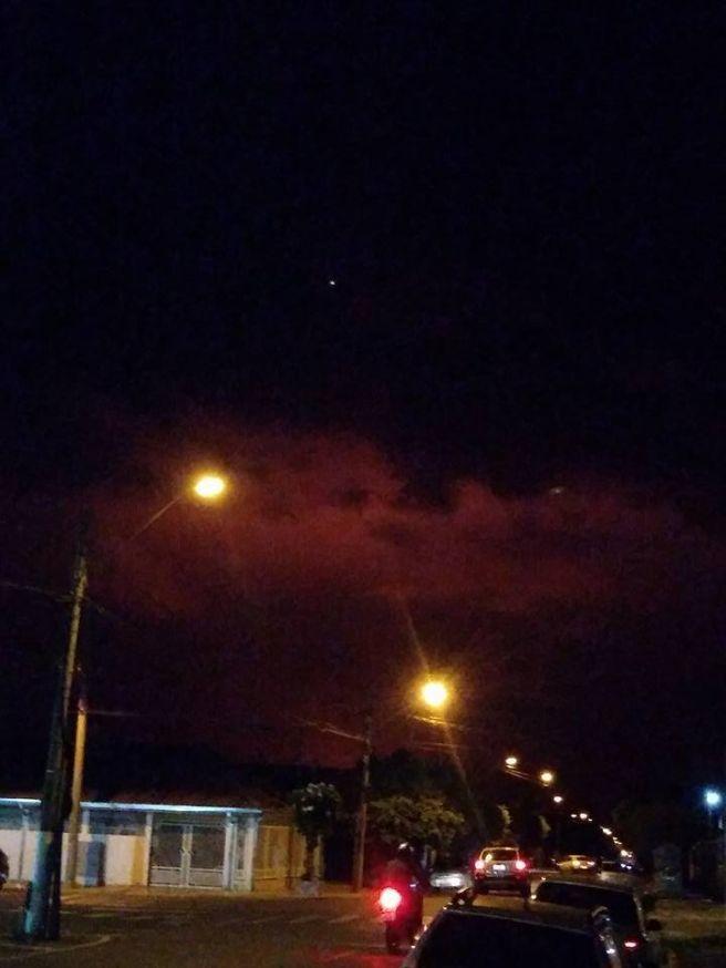 Tempestade avançando sobre Castilho SP
