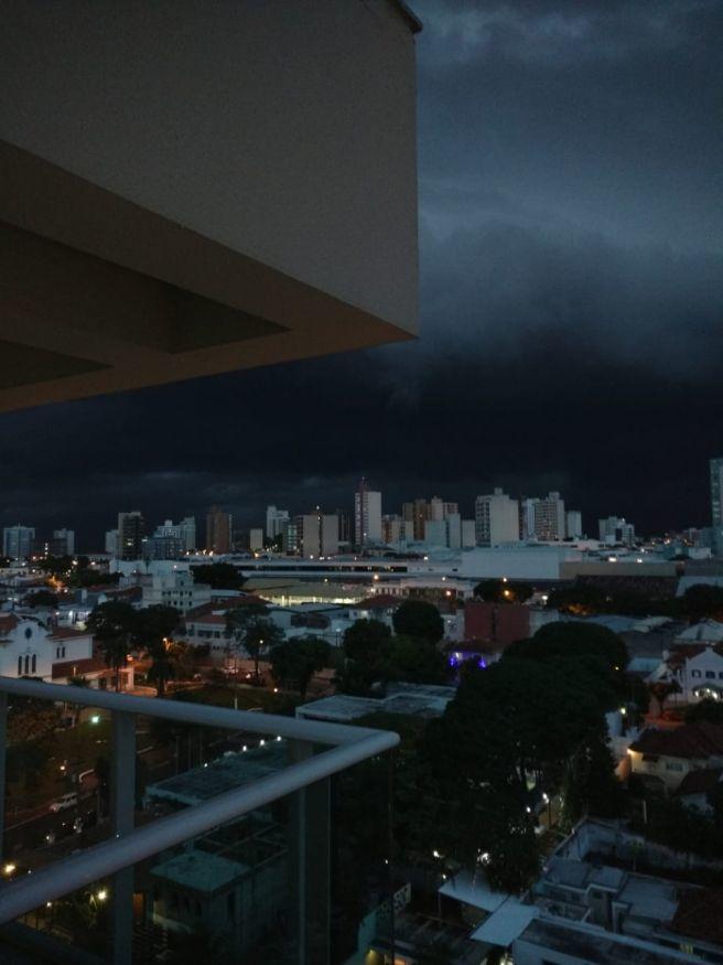 chegada da tempestade de ontem aqui em Marília-SP