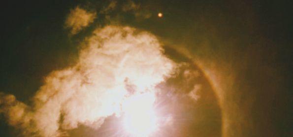 Halo solar sobre Alto Paraguaçu em Itaiópolis SC.