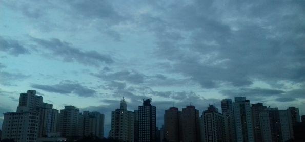 Anoitecer na zona sul de São Paulo-SP
