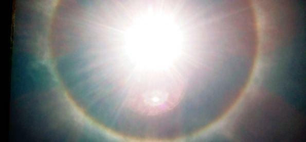Belo halo solar em Itaiópolis SC