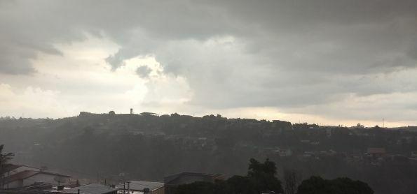 Começo de chuva forte