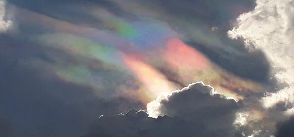 Céu em Guaraú na Juréia ontem