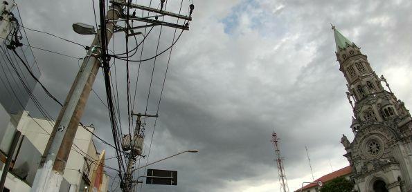 Nuvens carregadas na região da Vila Mariana