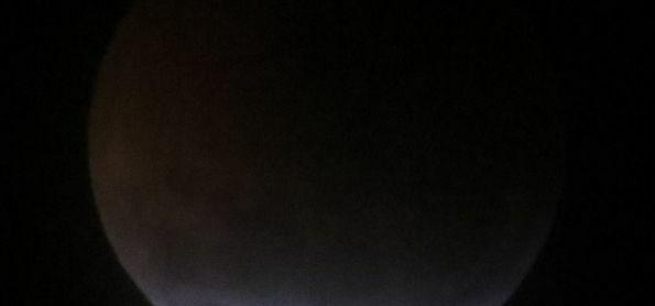 Eclipse da lua de 21 de janeiro no céu da Montanha de São Thomé das Letras