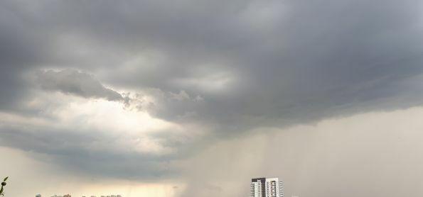 Chuva chegando à zona sudoeste de São Paulo