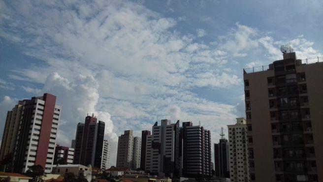 Nuvens em São Paulo!