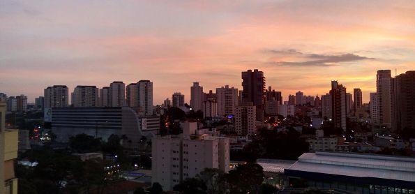 Pôr do sol em Santo André