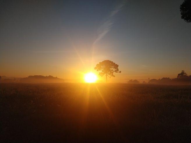 Amanhecer em Tijucas do Sul Paraná