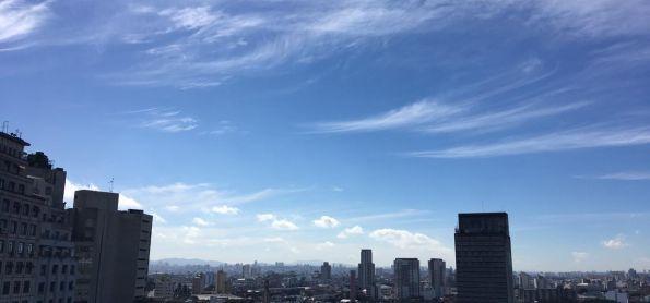 Ceu azul na capital paulista