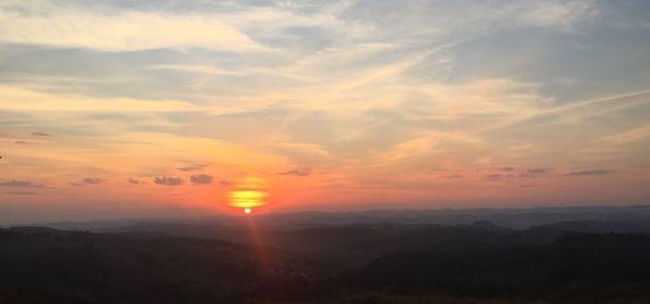 Pôr do Sol dia 16/08/2019 em Concordia-SC
