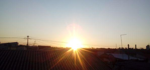 Por do sol nesse Domindo de fim de tarde em curitiba