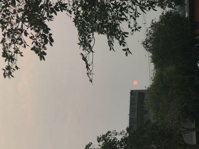 Fumaça em Foz do Iguaçu