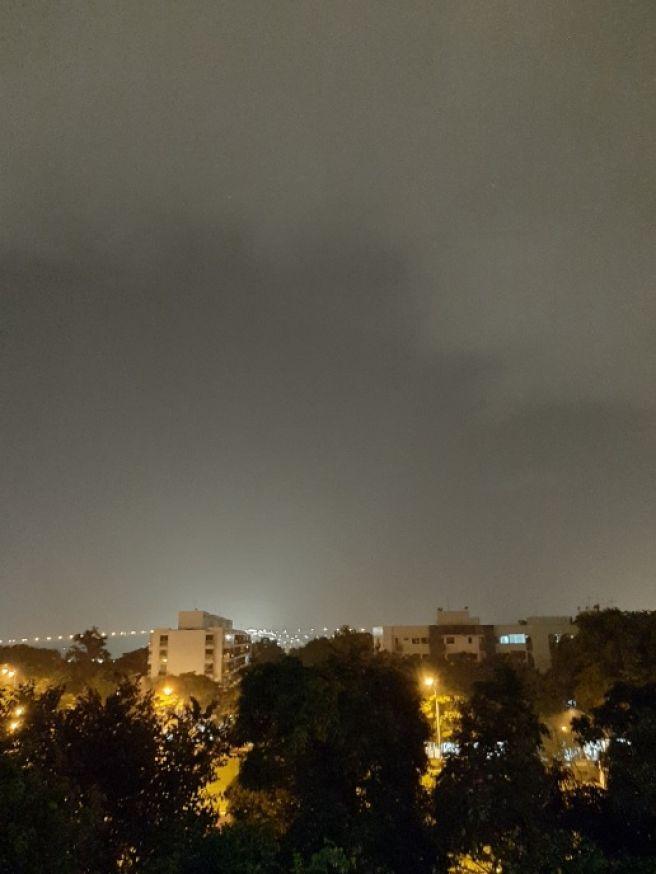 Chuva Forte à noite em Brasília