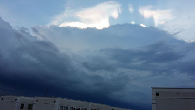 Tempestade a vista