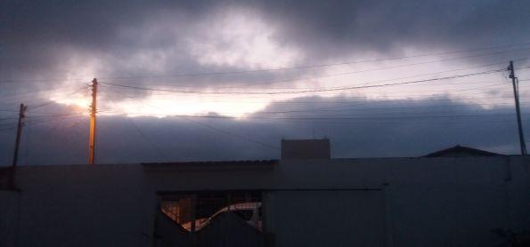 Amanhedo com periodo nublado em Barra da Estiva- BA