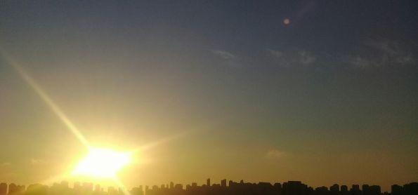 Lindo amanhecer na Grande São Paulo